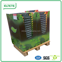 Forklift trolley display paper pallet