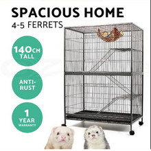 ferret bird cage 3 level cat hamster rat budgie pet aviary cage with wheels