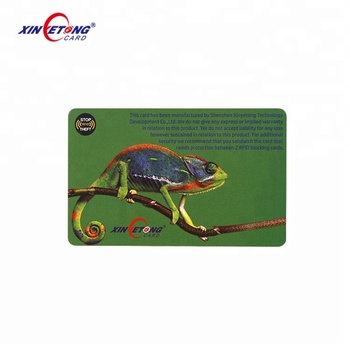 Hot Sell Customized Logo Printing RFID Blocking Card for RFID Credit Card Protector