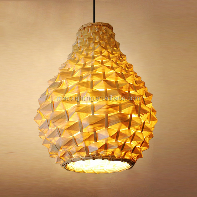 Hand make bamboo lamp rattan pendant lamp made in Zhongshan modern decor for indoor