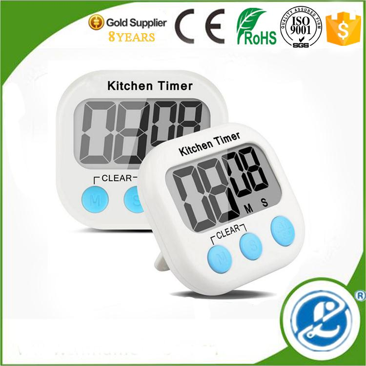 electronic cell battery driven timer cheap price round shape with strong magnet timing device kitchen timer