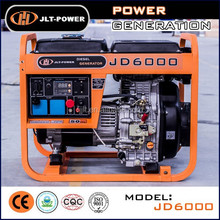 5kva Air Cooled 4-Stroke Engine Small Portable Diesel Generator With Wheels