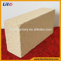 China supplier Aluminum oxide brick high alumina light weight insulating refractory bricks