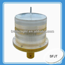 solar powered marine navigation light for boats