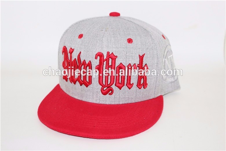 6 Panel hat Cap Snapback With 3D Embroidery