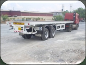 Flat Bed Bogie Trailer Model TFB40-B, 50 ton Capacity