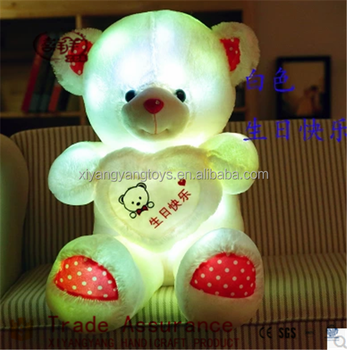 Factory Price Wholesale Custom Stuffed Plush Toys led luminous bear