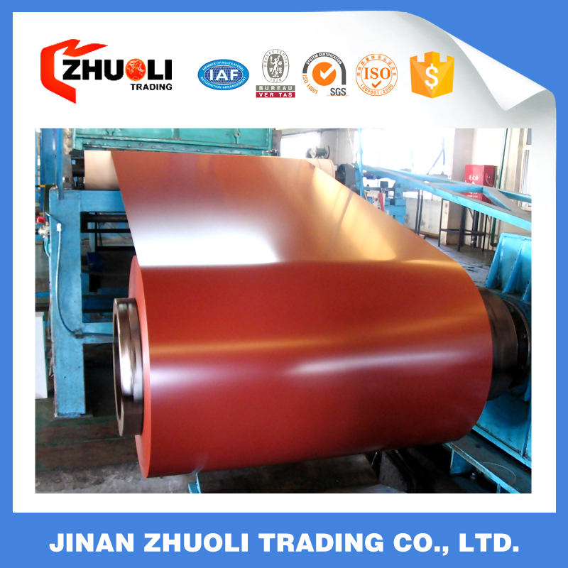 China Prepainted Galvanized Steel Coils used in roof/ water gutter