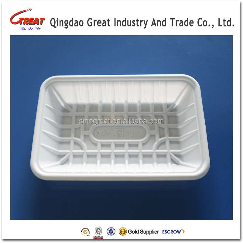 white PP blister plastic disposable food sushi tray