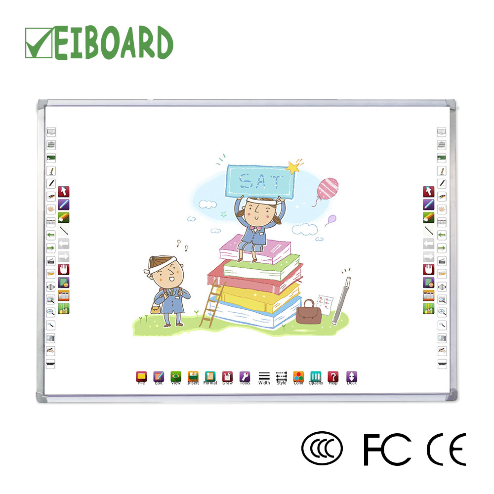 Aluminum frame 4 users write touch screen IR white board sizes