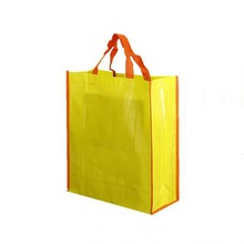 Candy color cheap laminated non woven tote bag/custom print shopping bag
