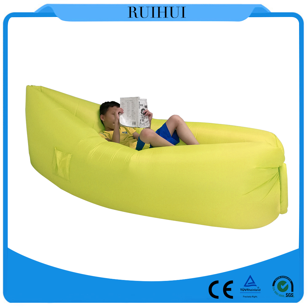 2016 newest outdoor camping 10 second Inflatable air bag sofa