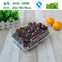 Disposable clear hard plastic fresh fruit packaging big box plastic container