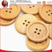 wholesale non-magnetic clothing decoration hard wooden buttons for sales
