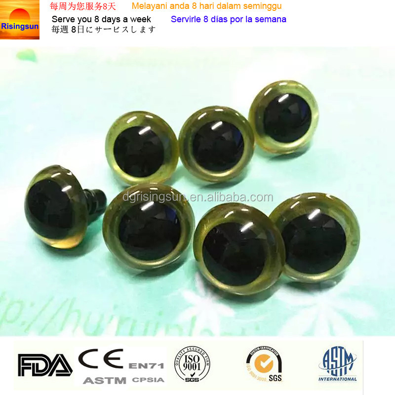Special Color Plastic Safety Googly Animal Eyes and Nose For Doll Toys