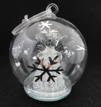 Glass christmas ball with furniture inside wholesale in china
