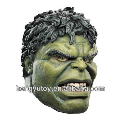 2013 hot selling full head king mask pretty realistic adult HULK mask movie for 2014 world cup