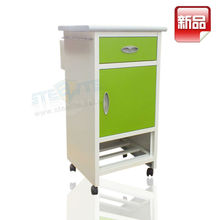 Hospital Mobile Bedside Steel Cabinet / used hospital cabinets with wheels