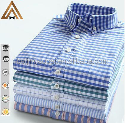 OEM and ODM manufacturers service european style full sleeve egyptian cotton yarn dyed men dress shirt