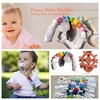 Unisex Stylish Designs Teething Ring Holder silicone Baby Pacifier