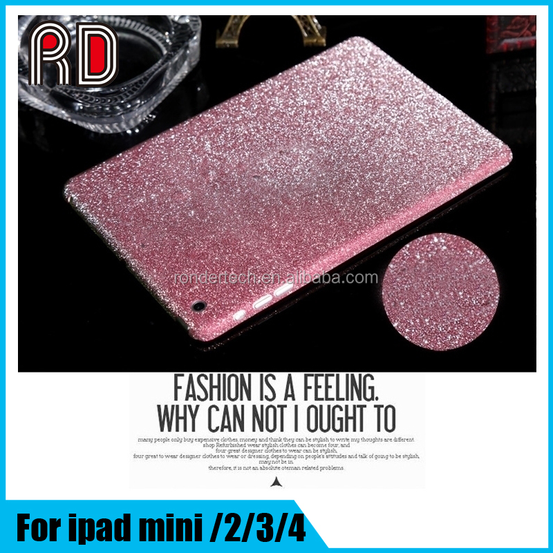 "Luxury Bling Full Body Decal Glitter Back Film Sticker Case Cover for ipad 4 Mini /Mini Retina 2/Mini 3 7.9"" 9.7"""