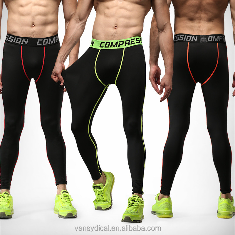 Men's Compression Tights Leggings Sports Workout GYM Base Layer Pants Basketball Jogging Running Trousers
