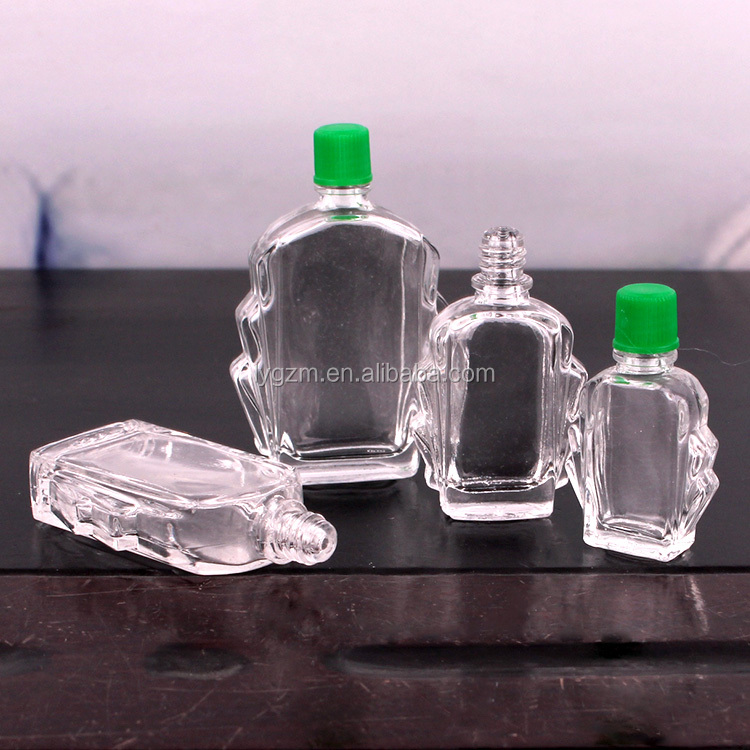 4ml 7ml 11ml 14ml empty wind medicated oil bottles with green plastic cap