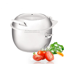 High quality stainless steel chafing dish for soup, portable soup warmer hot pot chafing fuel