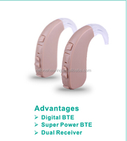 CE&FDA super power bte sound amplifier, Siemens hearing aid