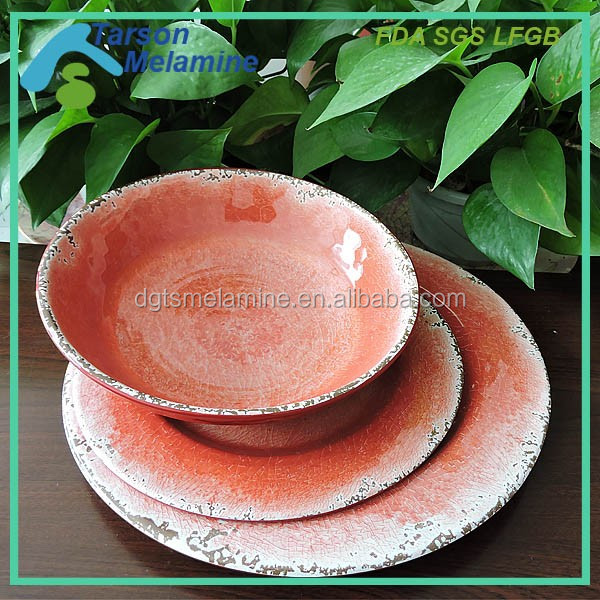 hot sale in 2016 melamine dinnerware with decal paper
