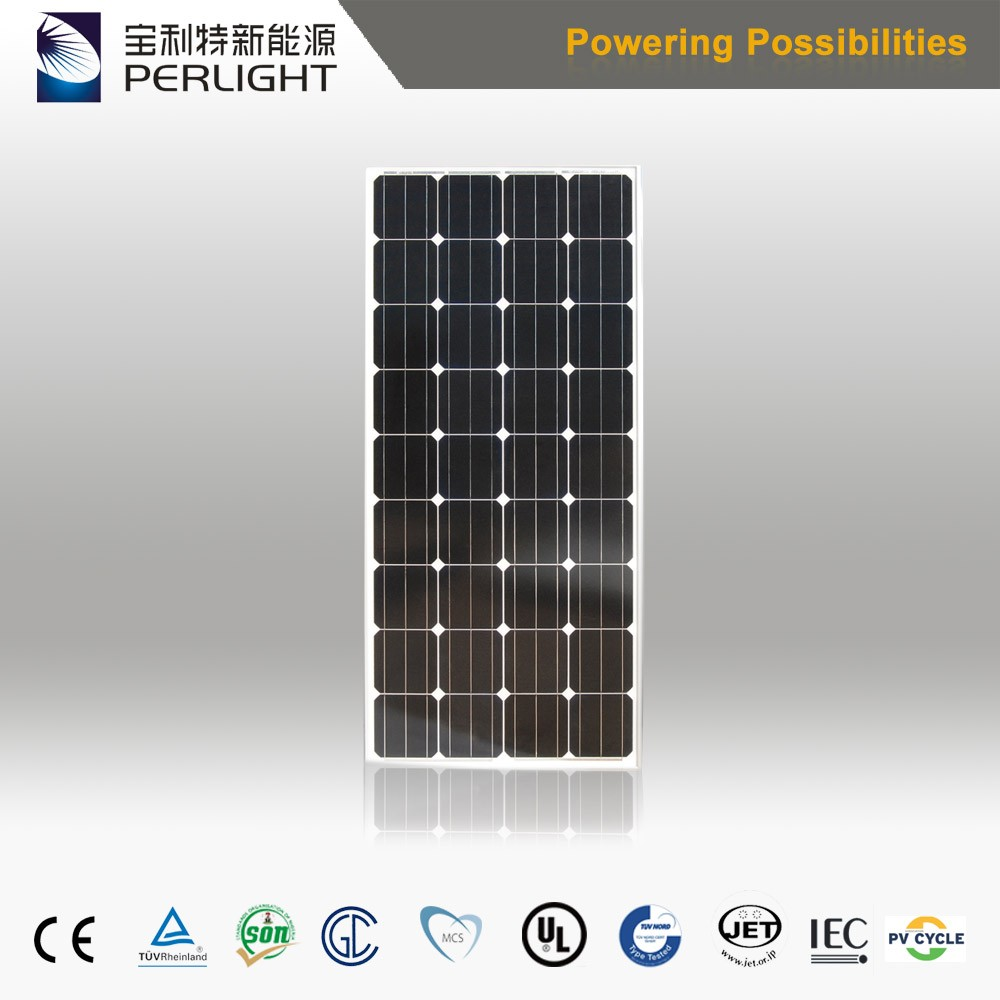 Promotion Price Perlight 18v Monocrystalline Solar Panel 130w 140w 150w Solar Module for Solar Pump System
