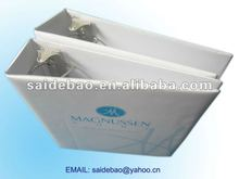 Paper loose-leaf A4 document file folder promotional, A4 embossing folder printing with high quality grey board paper
