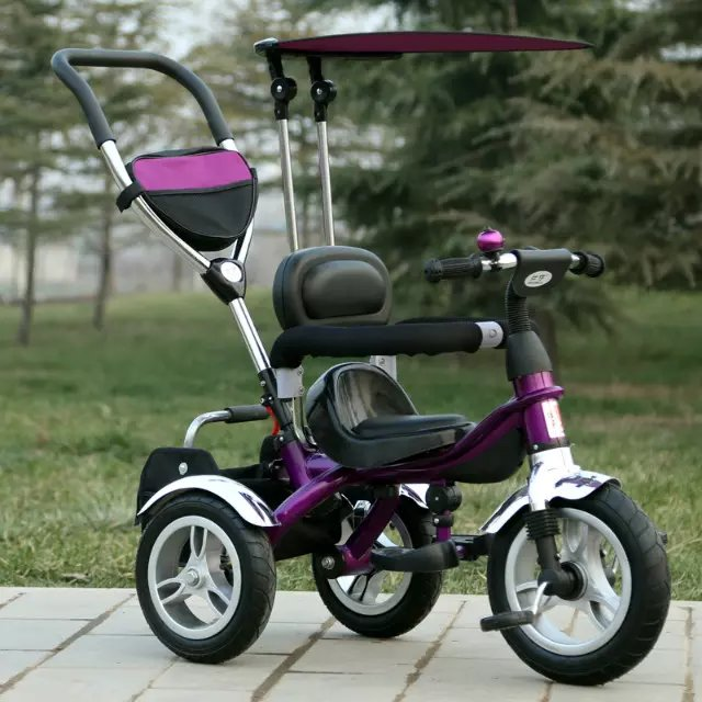 China baby pram with seat rotation tricycle for kids baby carriage