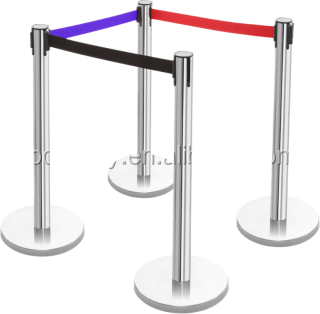 Retractable Strap Queue Barrier Stand For Protection