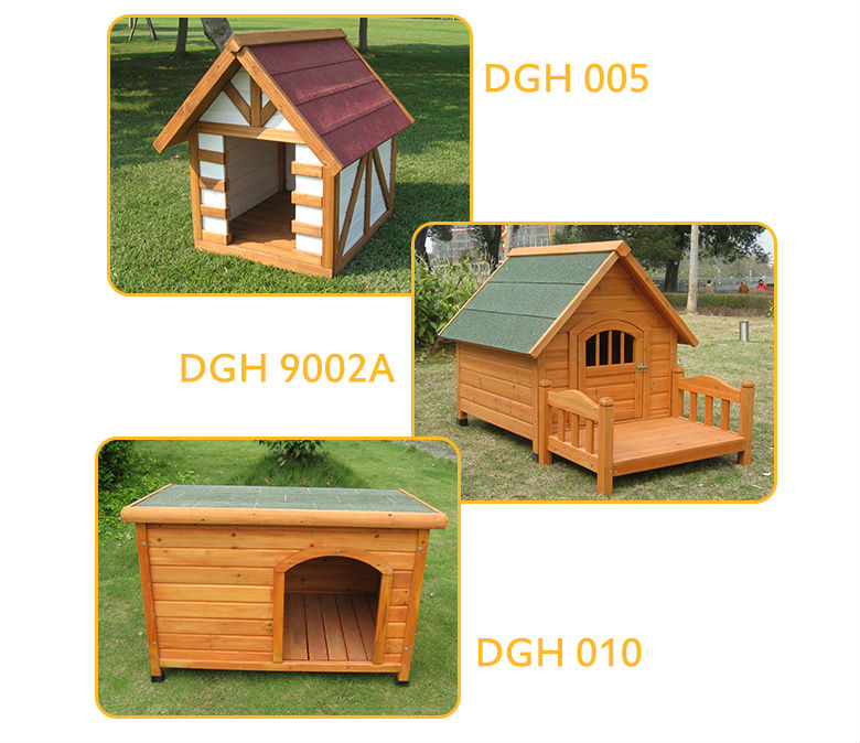 Good design portable double door large wooden dog house dog kennels cages