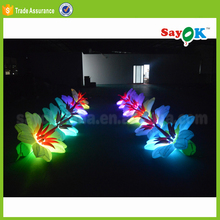 led inflatable flower rose light chain concert stage background decoration for graduation