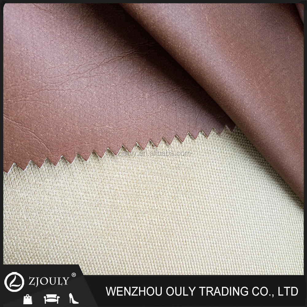 2016 backpack pu washed leather for making handbags