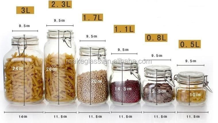 square glass jars with metal clip and rubber glass storage jar glass canister