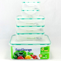6pcs Food Grade PP Food Container Well Sealed Storage Organizer Set For Food Lunch Refrigerator Plastic Crisper Storage Box