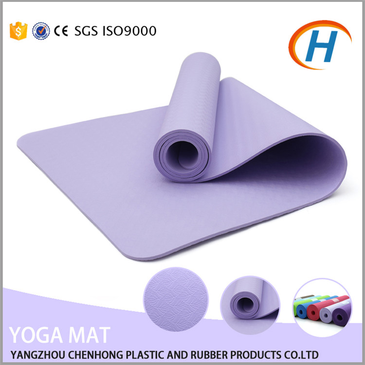 High Quality 6mm Latex Free Eco-friendly Import Yoga Mat <strong>Manufacturing</strong>