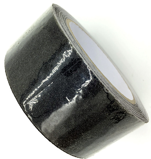 Black Anti Slip Traction Tape 2 Inch x 30 Foot Grip, <strong>Friction</strong>, Abrasive Adhesive for Stairs, Safety, Indoor, Outdoor
