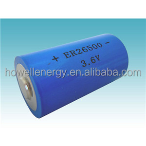 New ER26500 C 9000mah 3.6V Li-SOCI2 Primary Lithium Battery widely used in electricity gas and flow instrument