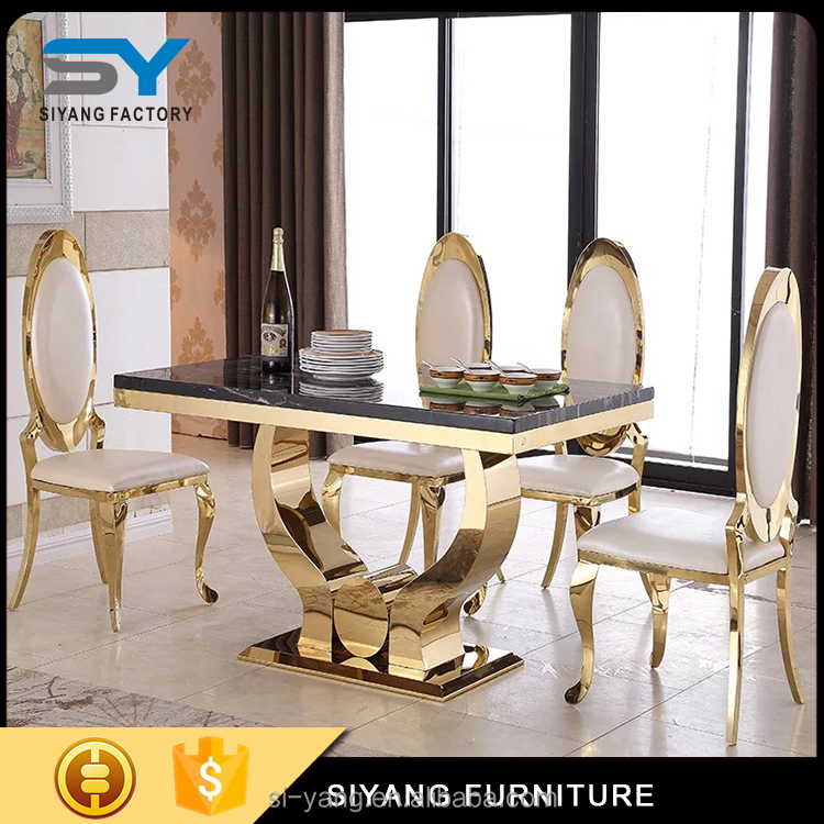 marble top table with chairs export to ukraine