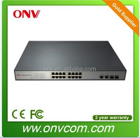 New model 10/100M 15.4w 16port poe ethernet switch