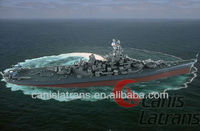 New Army green Warship Model/Toy Warship Model