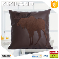 Reliable supplier new design christmas leather pillow covers