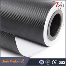 Guangzhou factory 3d carbon fiber car wrapping film, body car stickers