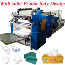 Italy Design Embossing Laminating Printing High Speed Automatic Interfold Facial Tissue Paper Machine