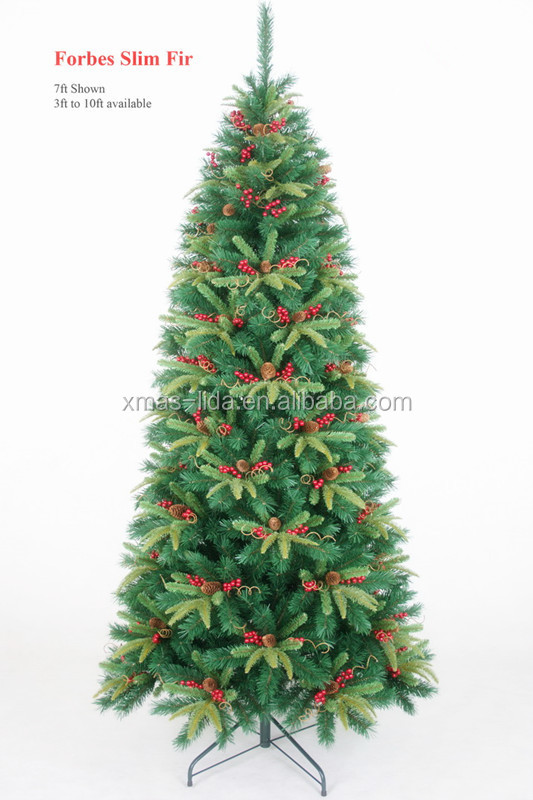 2015 Modern Style Flocked Pine Needle With Falling Snow