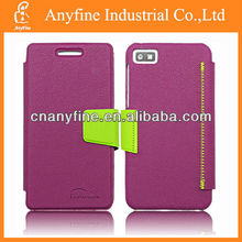 2013 Agu.Hot sale mix color style wallet case for Blackberry Z10 , for Blackberry Z10 leather case